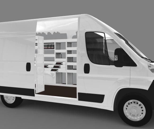 citro n jumper l2h2 flexmo bedrijfswageninrichting bedrijfsauto inrichting. Black Bedroom Furniture Sets. Home Design Ideas