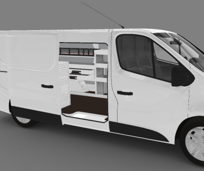 renault trafic l2h1 flexmo bedrijfswageninrichting bedrijfsauto inrichting. Black Bedroom Furniture Sets. Home Design Ideas